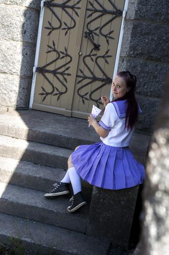 Koulutyttö Karkkipussi Valokuva Cosplay