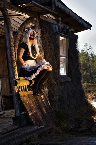 Halloween Tyttö Valokuva